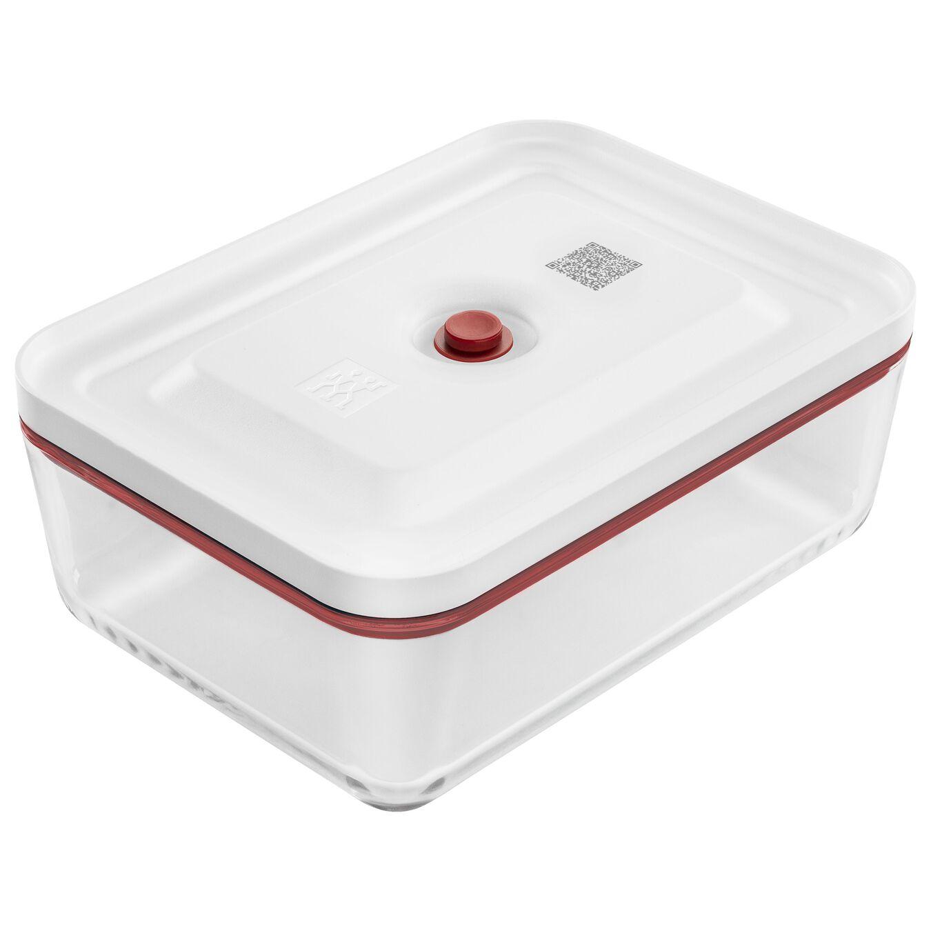 Contenitore sottovuoto per il frigo, vetro, rosso,,large 1
