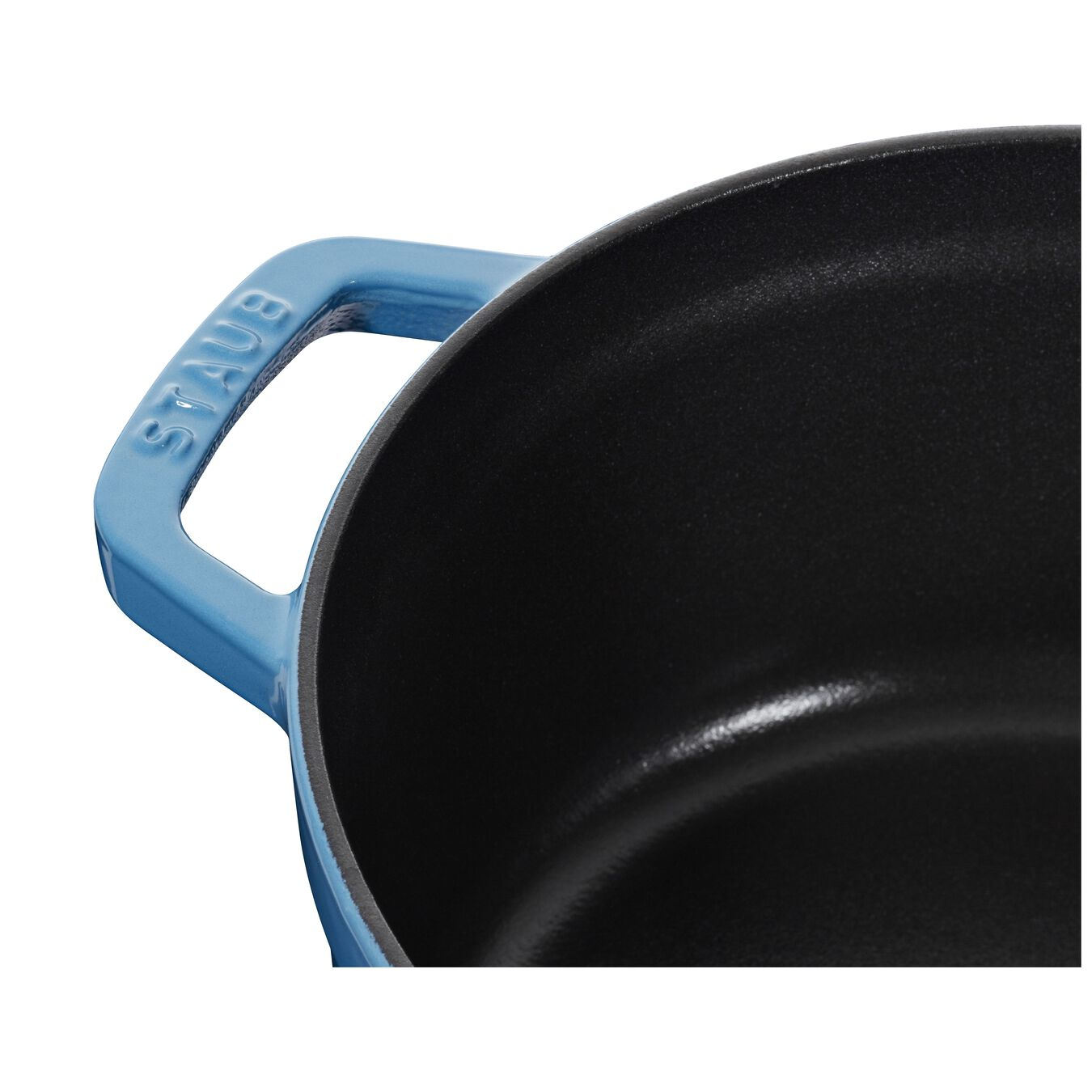 3.75 l Cast iron round Cocotte, Ice-Blue,,large 6