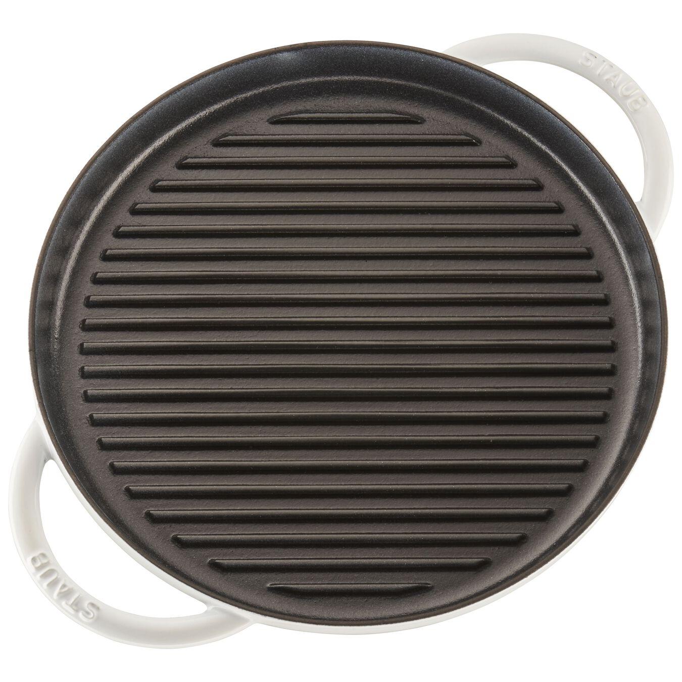 12-inch Round Steam Grill - White,,large 5