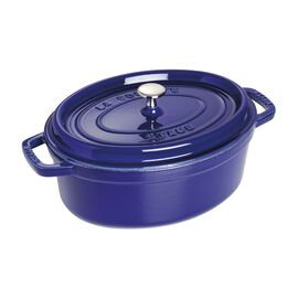 Staub La Cocotte, Cocotte 29 cm, Ovale, Bleu intense, Fonte