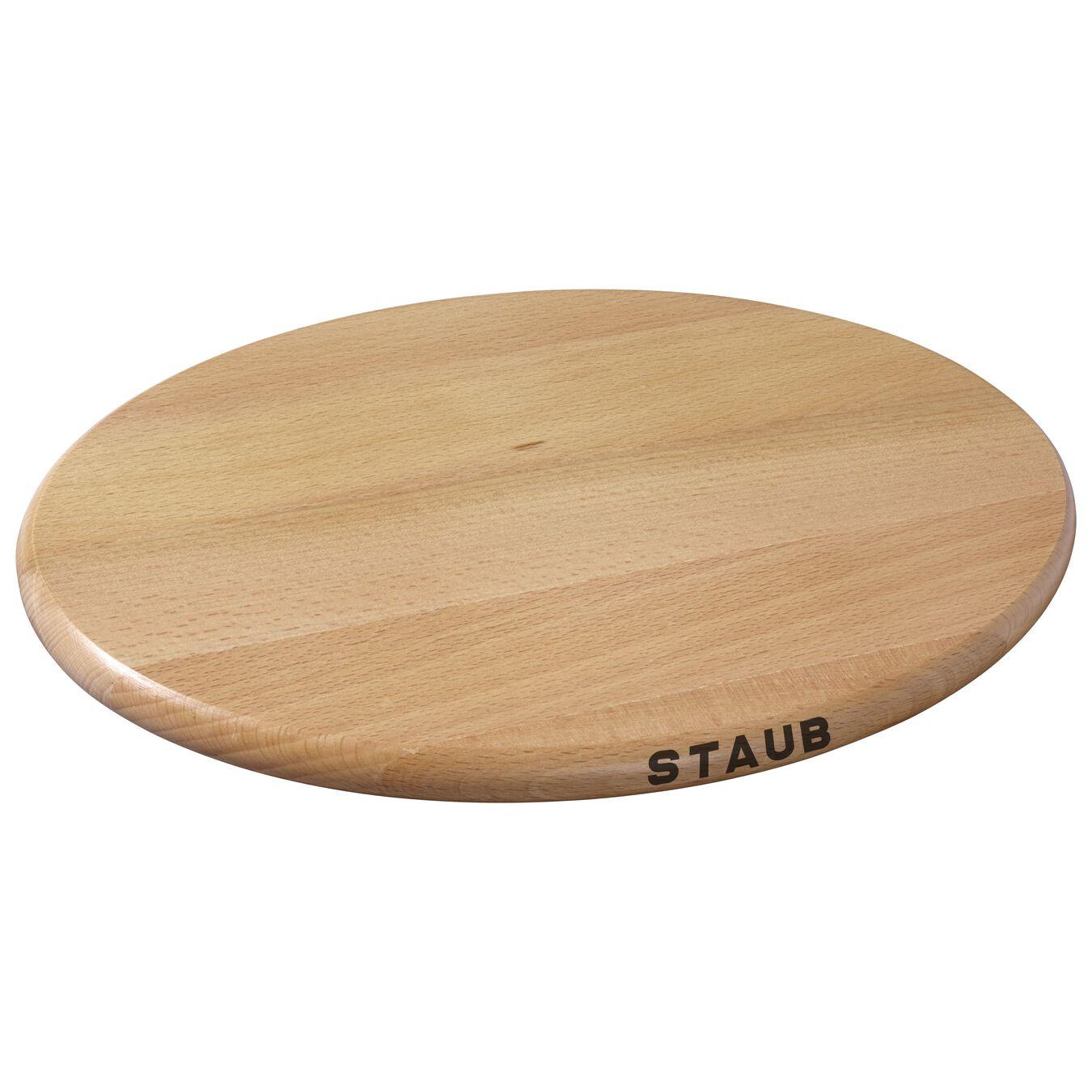 11.4-inch Oval Magnetic Wood Trivet,,large 1