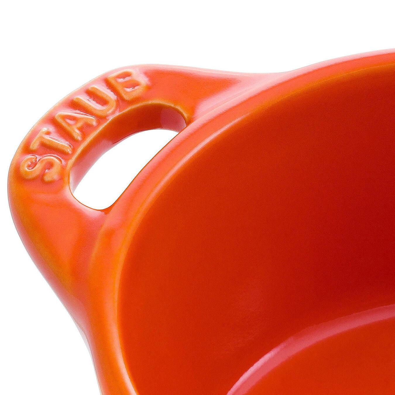 Mini Cocotte 10 cm, Rond(e), Orange, Céramique,,large 4