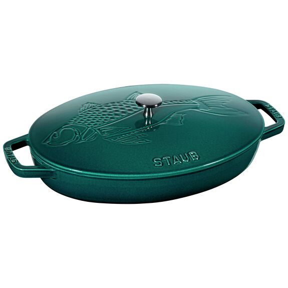 13-inch Cast iron Oven dish with lid,,large