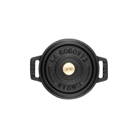 0.25-qt Mini Round Cocotte - Matte Black,,large 3