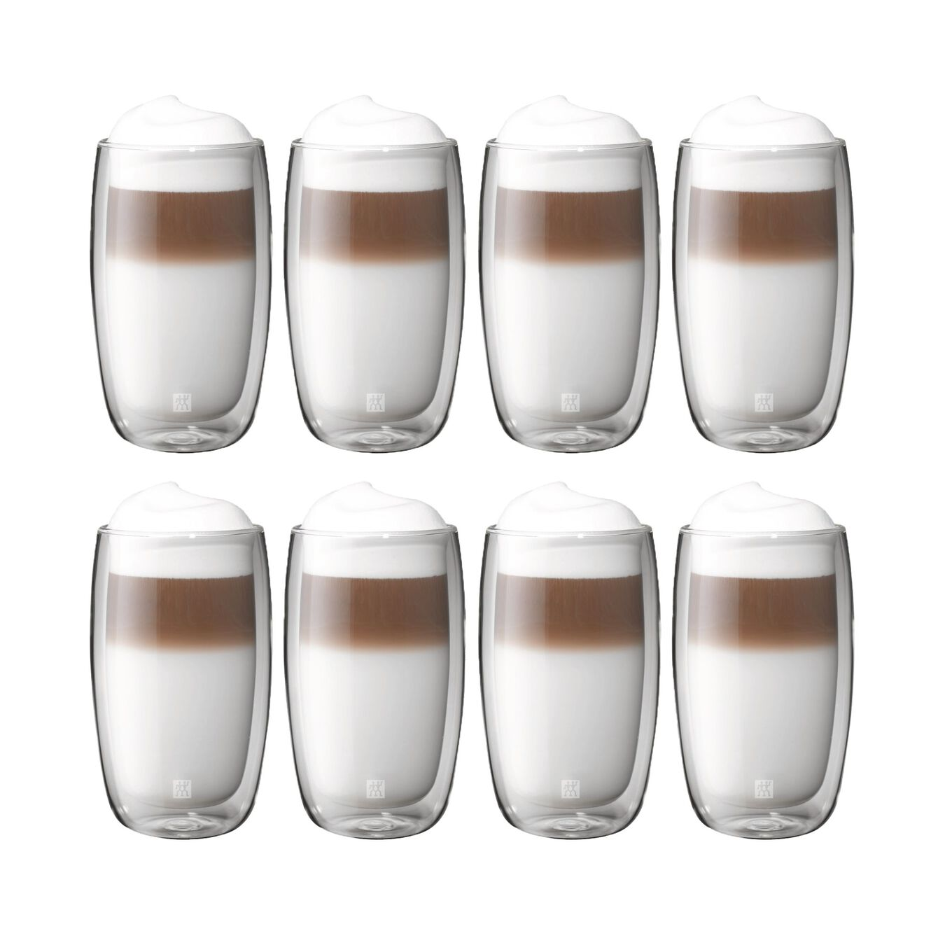 8 Piece Double-Wall Latte Macchiato Glass Set,,large 1