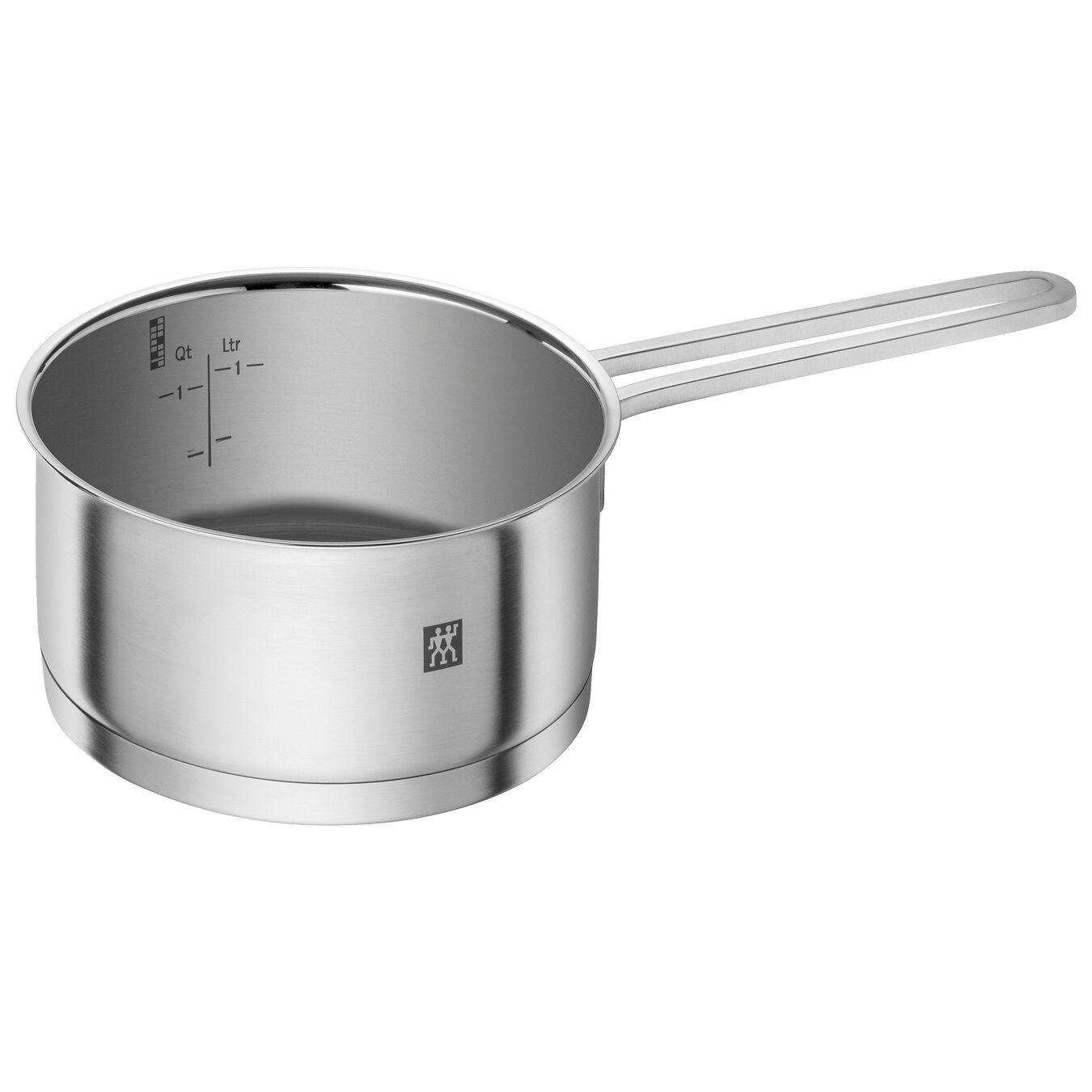 Stieltopf ohne Deckel 16 cm, 18/10 Edelstahl, Silber,,large 1