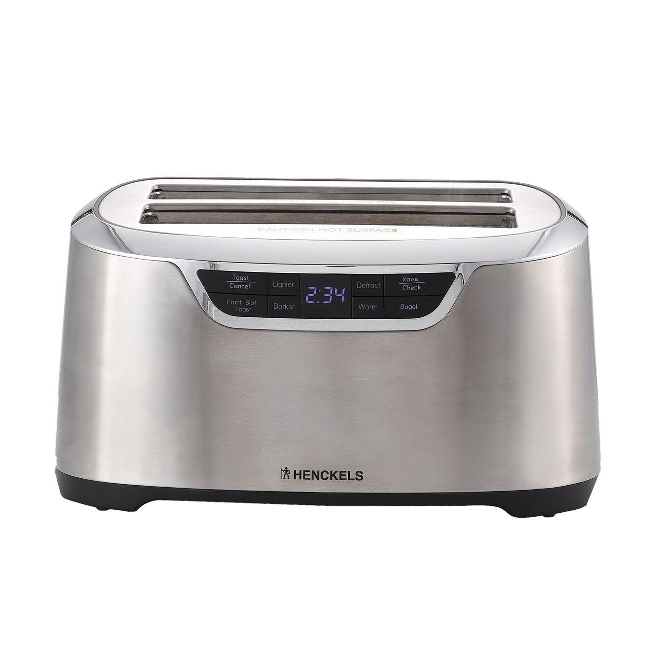 2 long slots Toaster - silver-black,,large 1