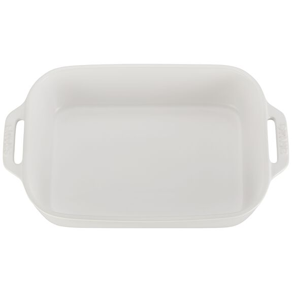 10.5-inch x 7.5-inch Rectangular Baking Dish - Matte White,,large 3