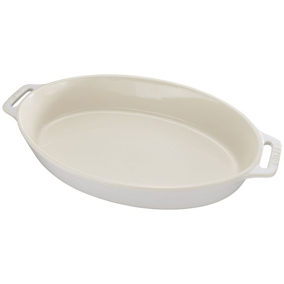 9-inch Oval Baking Dish - Rustic Ivory,,large