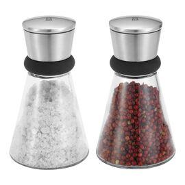 ZWILLING Spices, Salz & Pfeffermühle 14 cm, Glas, Transparent