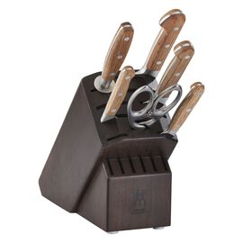 ZWILLING Pro Holm Oak, 7-pc Knife Block Set - Walnut Block
