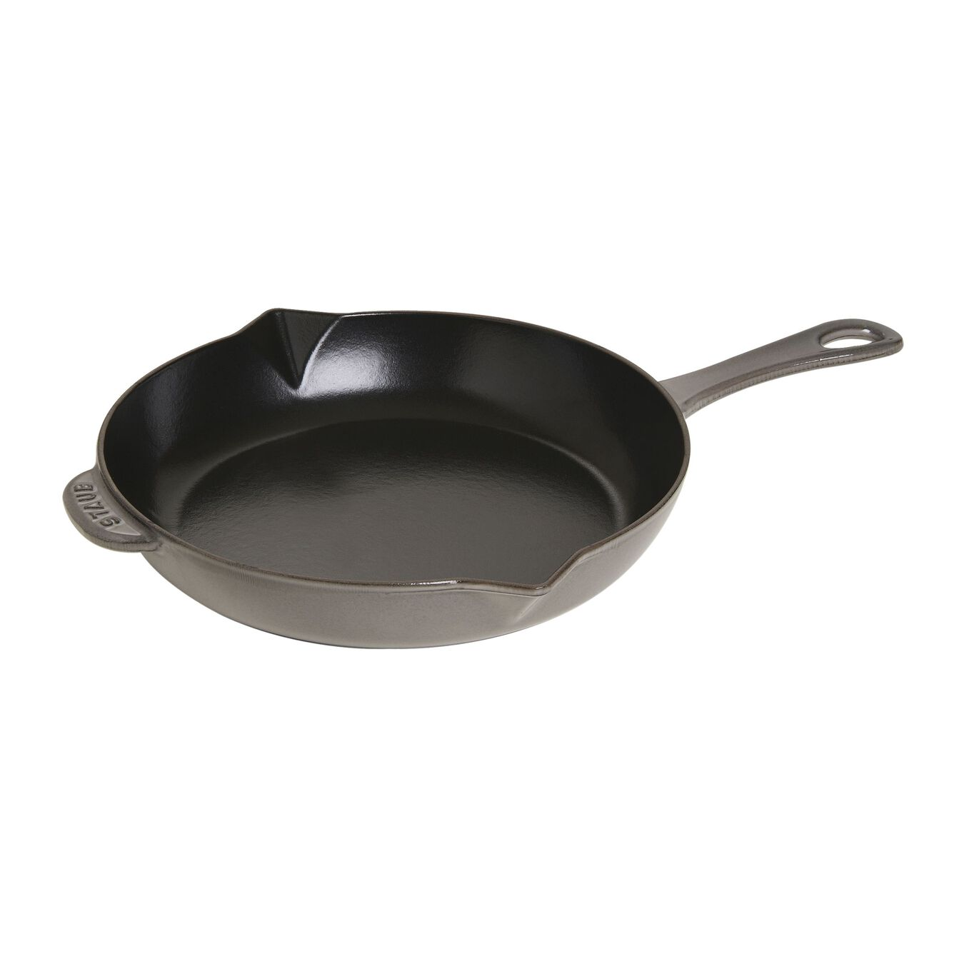 26 cm / 10 inch Cast iron Frying pan with pouring spout, black,,large 2