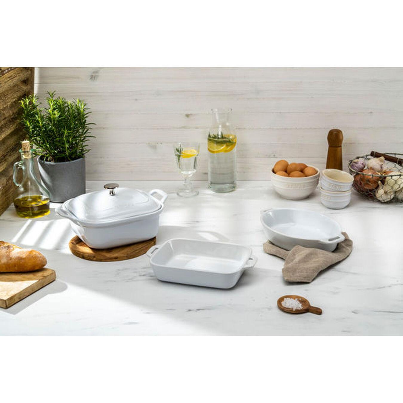 Ovenware set, 4 Piece | white,,large 7