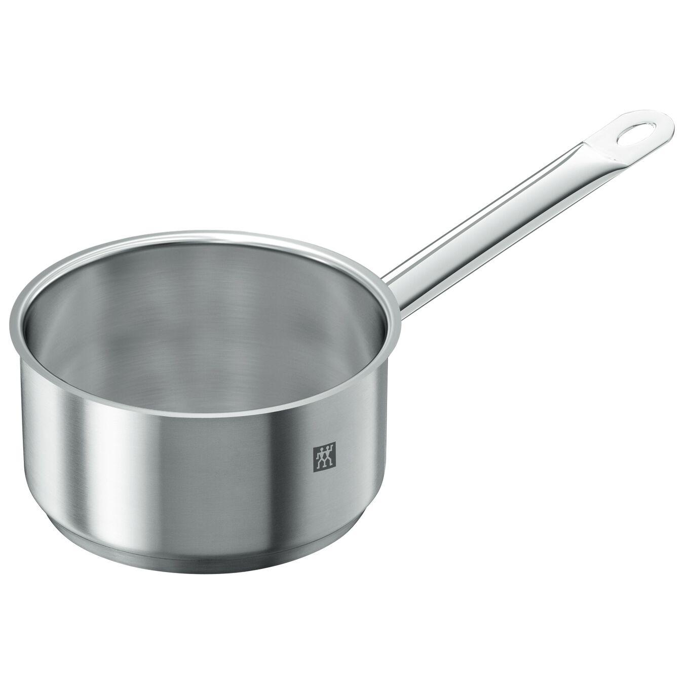 Stieltopf 16 cm, 18/10 Edelstahl, Silber,,large 3