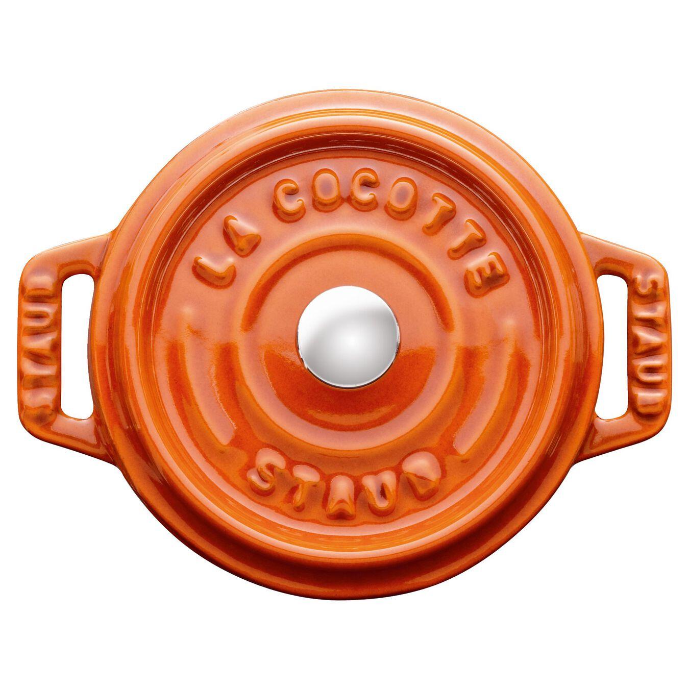 Mini Cocotte 10 cm, Rond(e), Cannelle, Fonte,,large 1