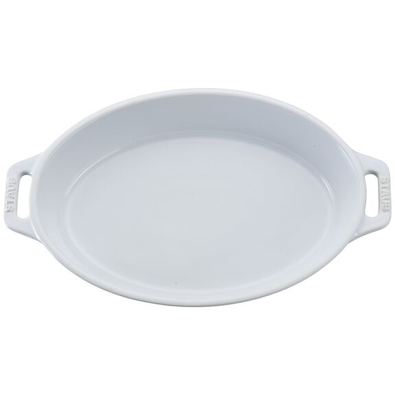 9-inch Oval Baking Dish - White,,large 2