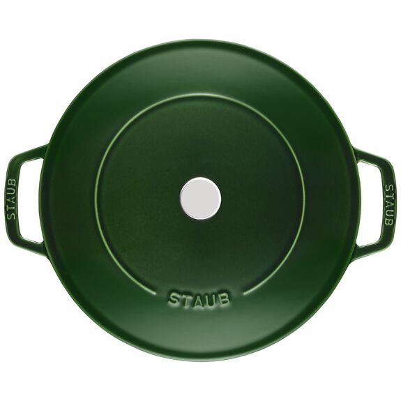 Cat Iron 2.75-qt Chistera Braiser - Visual Imperfections - Basil,,large 3