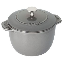 Staub Cast iron, 16-cm-/-6.5-inch round Cast iron Rice Cocotte, Graphite-Grey