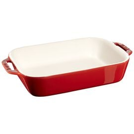 Staub Ceramics, 10.5-inch x 7.5-inch Rectangular Baking Dish - Cherry