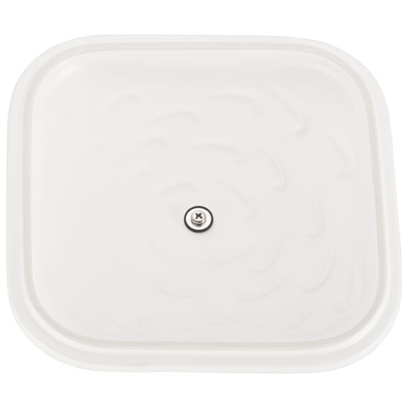 "9"" x 9"" Square Covered Baking Dish, Matte White, , large 5"
