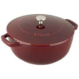 Staub Cast Iron, 3.75-qt round French oven, Grenadine