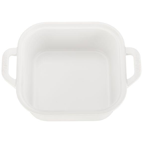 "9"" x 9"" Square Covered Baking Dish, Matte White, , large 2"