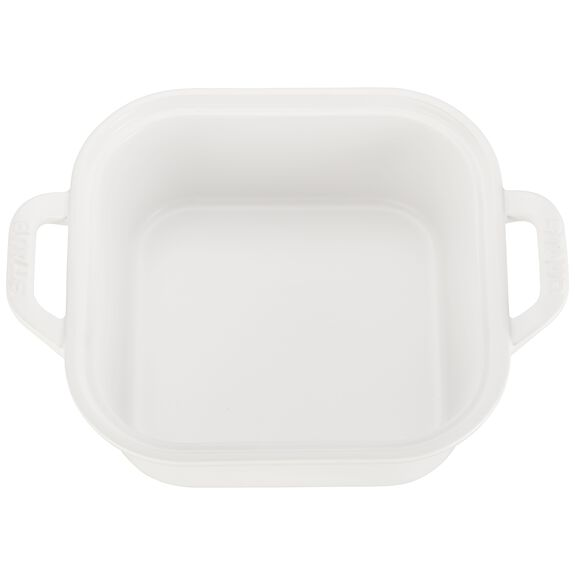 9-inch x 9-inch Square Covered Baking Dish, Matte White, , large 2