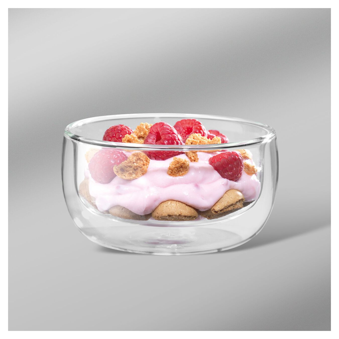 2 Piece Double-Wall Glass Bowl Set,,large 2