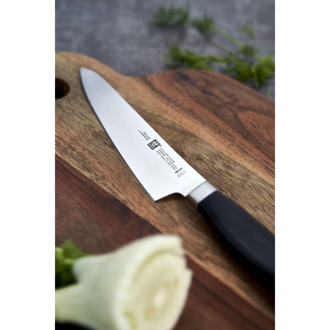 Coltello Chef compact liscio - 14 cm, forgiato, argento,,large 2