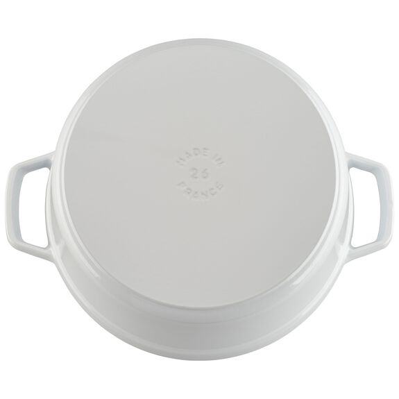 5.5-qt round Cocotte, White,,large 7