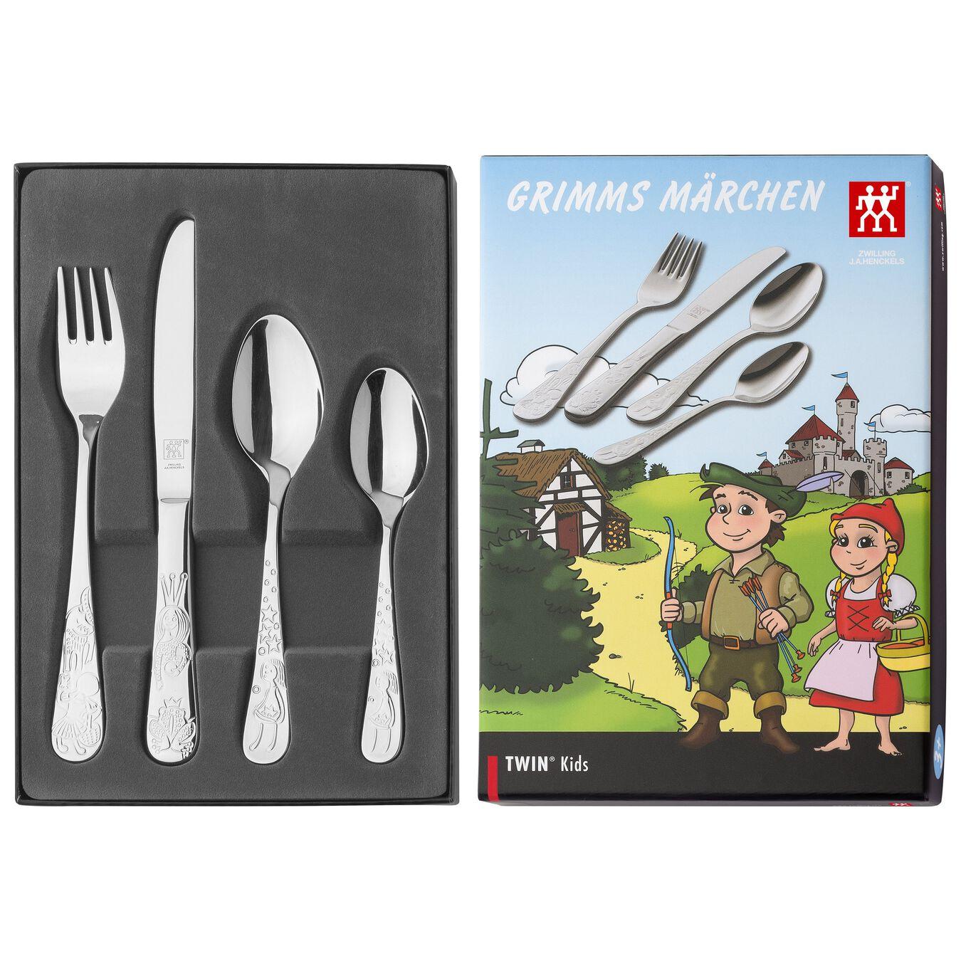 4-pc Children's flatware set, special formula steel ,,large 6