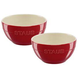 Staub Ceramique, 2 Piece 2 Piece Bowl set, cherry