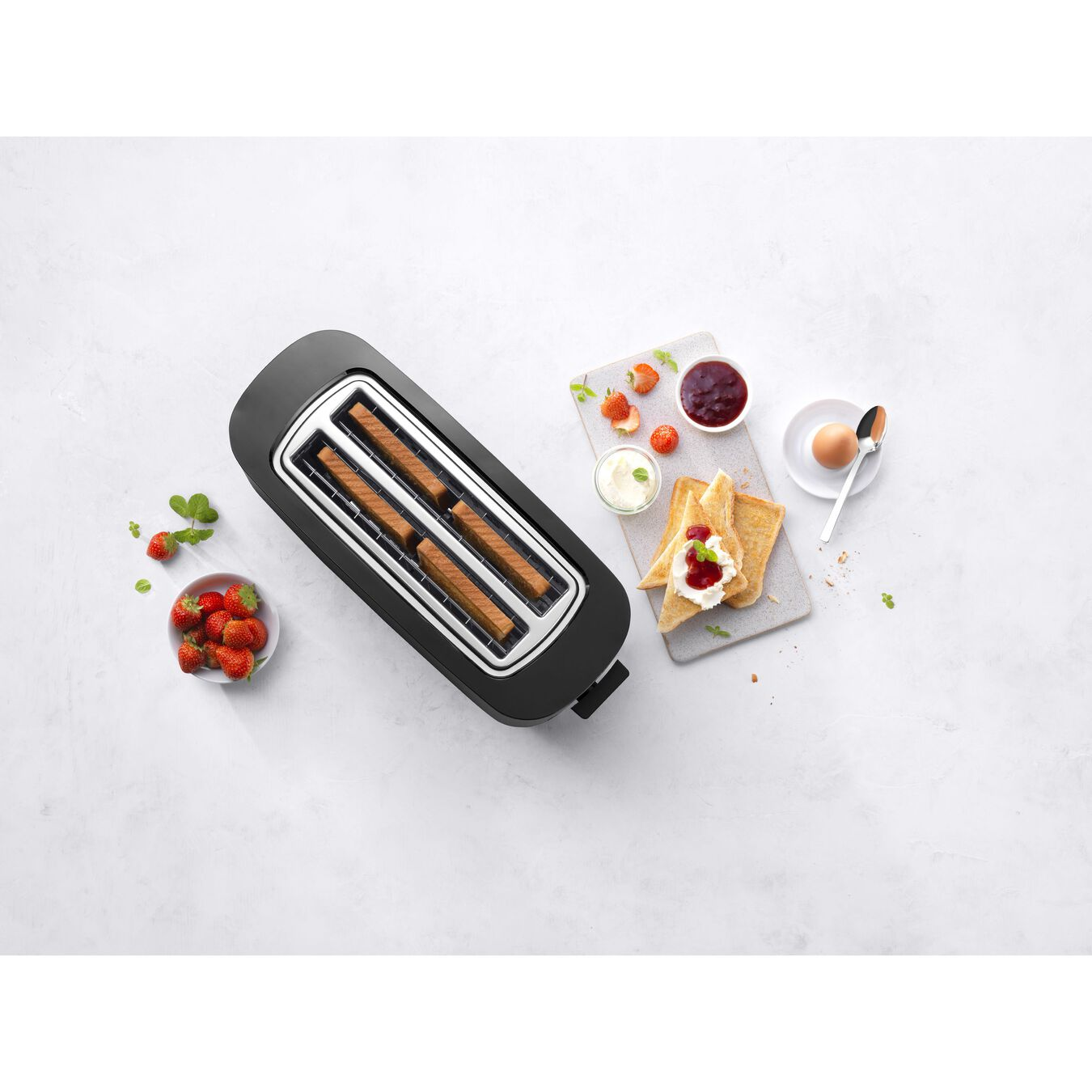 Toaster, 2 Schlitze lang, Schwarz,,large 6