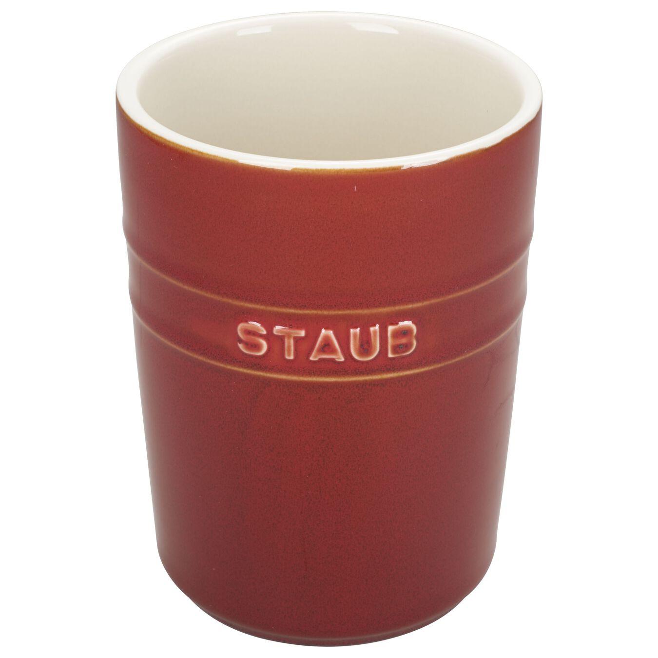 Utensil holder, red,,large 1