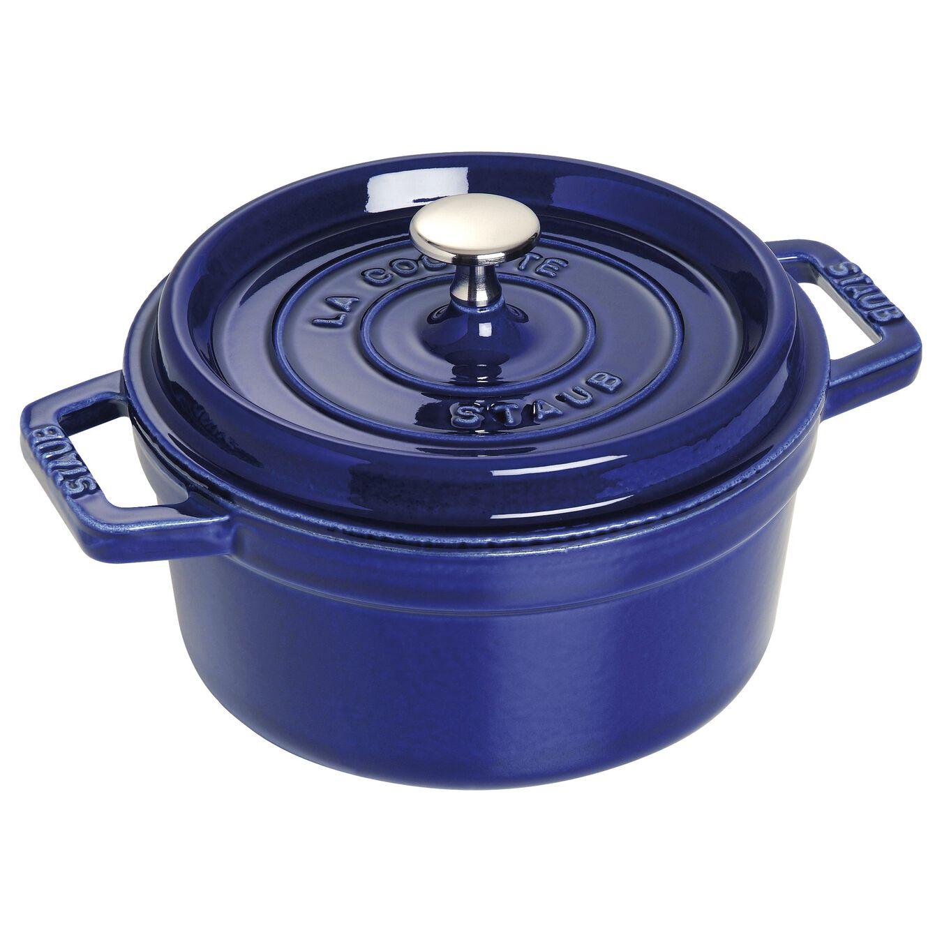Cocotte 20 cm, Rond(e), Bleu intense, Fonte,,large 1