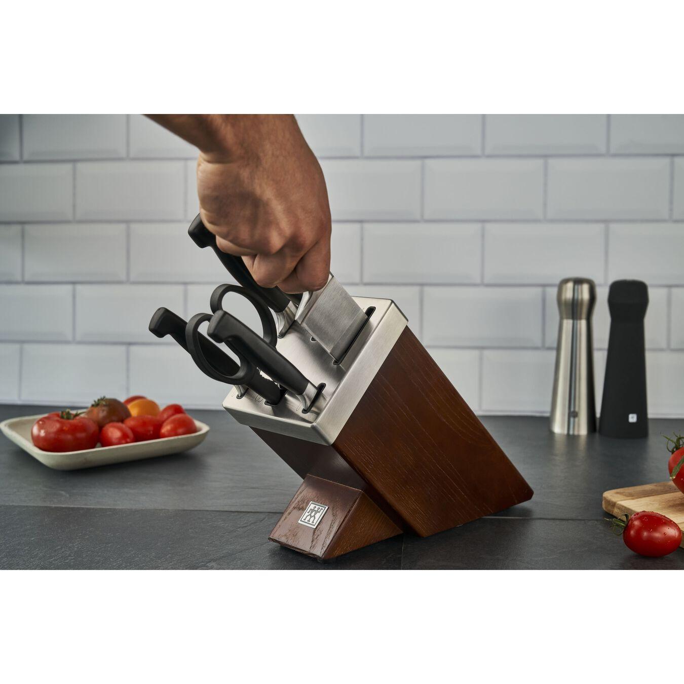 Bloc à couteaux avec technologie KiS, 7-pces, Frêne,,large 4