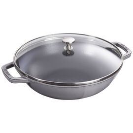 Staub Cast Iron, 4.5-qt Perfect Pan - Graphite Grey