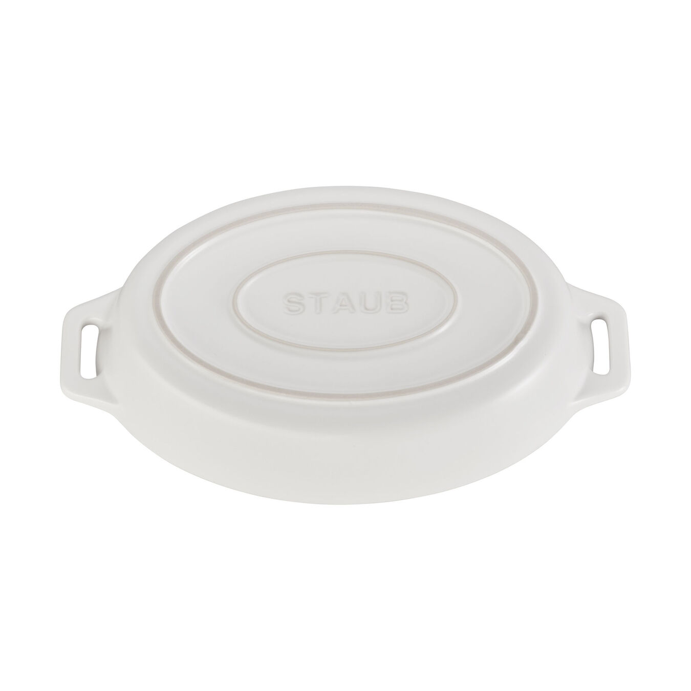 Ceramic oval Oven dish, matte-white,,large 3