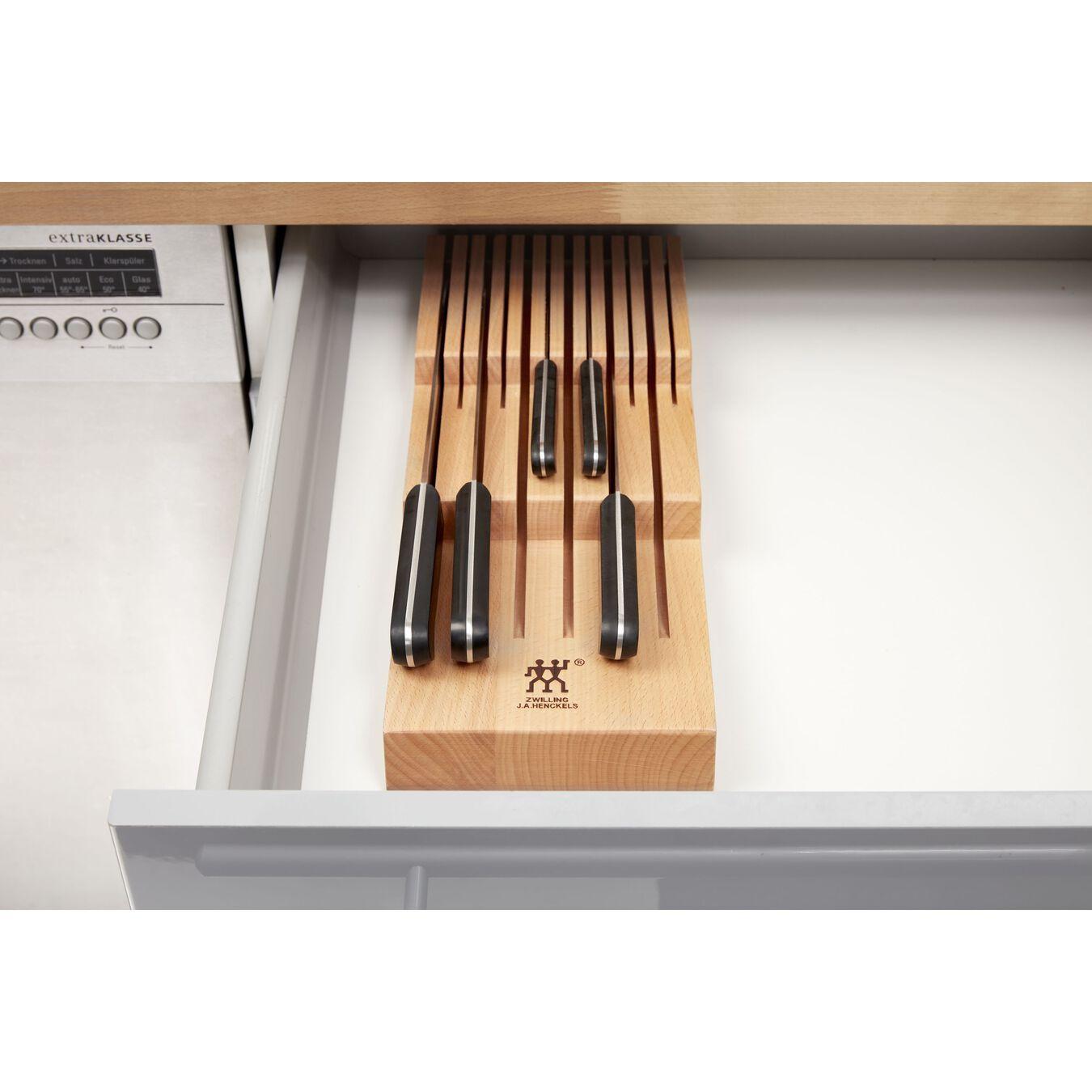 Schubladeneinsatz, bis zu 12 Messer, Buche,,large 5