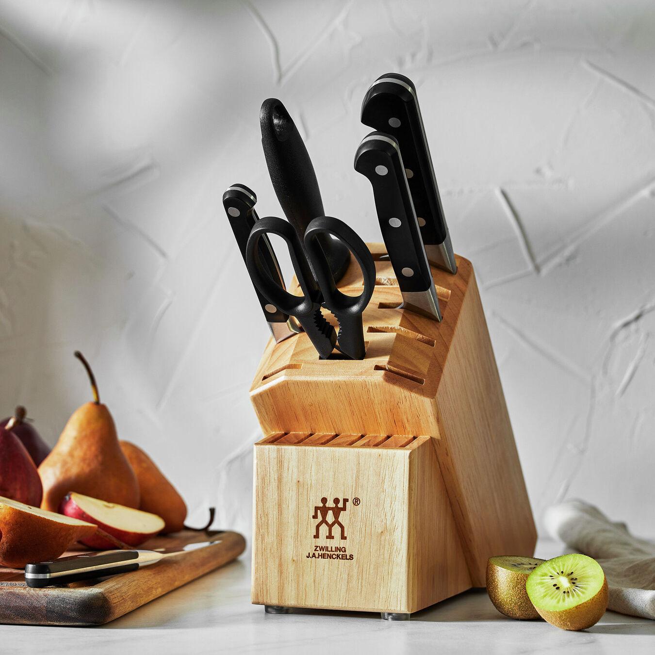 7-pc, Knife block set, natural,,large 7