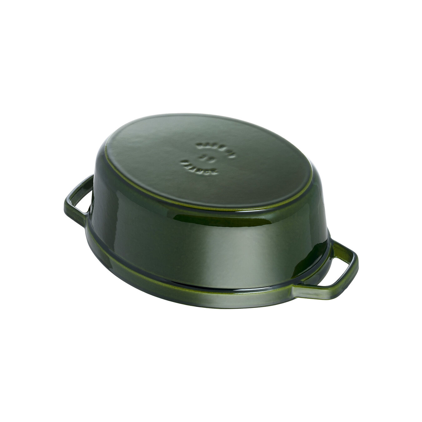 4.25 l Cast iron oval Cocotte, Basil-Green,,large 4