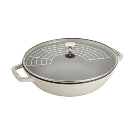 Staub Cast iron, 4.5-qt Perfect Pan - White Truffle