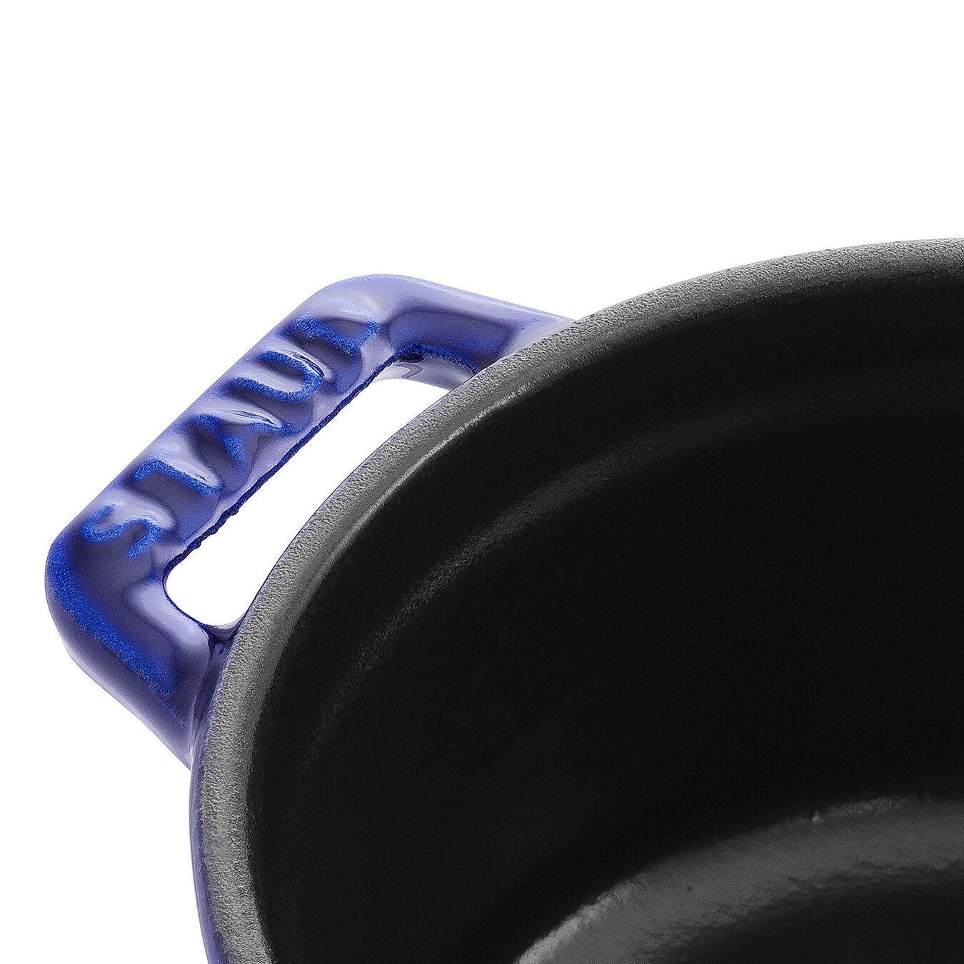Mini cocotte rotonda - 10 cm, blu scuro,,large 2