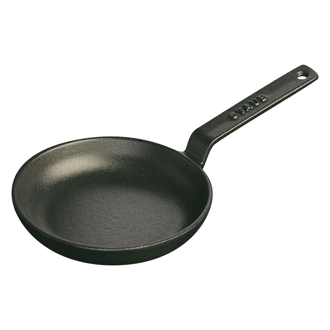 12 cm / 4.5 inch Cast iron Frying pan, Black,,large 1