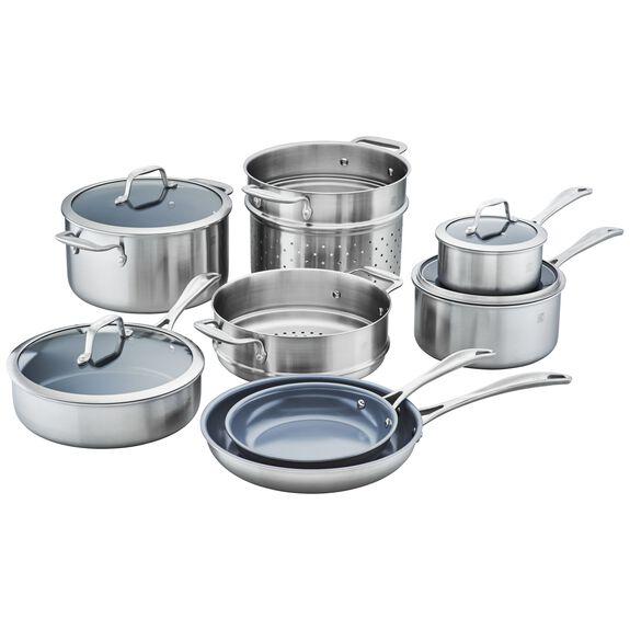 12-pc Ceramic Nonstick Cookware Set, , large