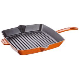 Staub Cast Iron, 12-inch Square Grill Pan - Burnt Orange