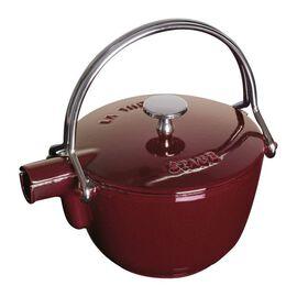 Staub Cast Iron, 1.25 qt, round, Tea pot, grenadine