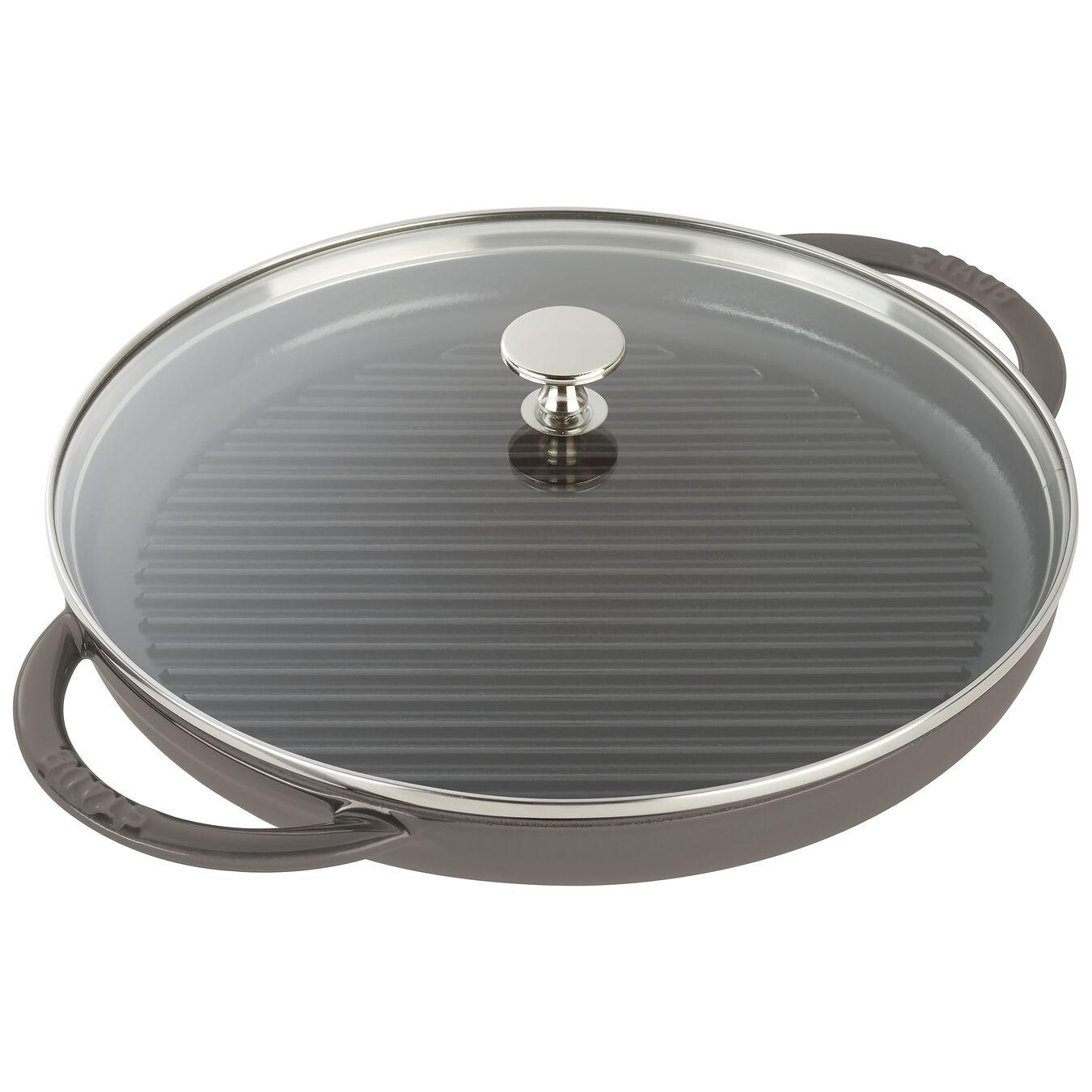 12-inch Round Steam Grill - Graphite Grey,,large 1