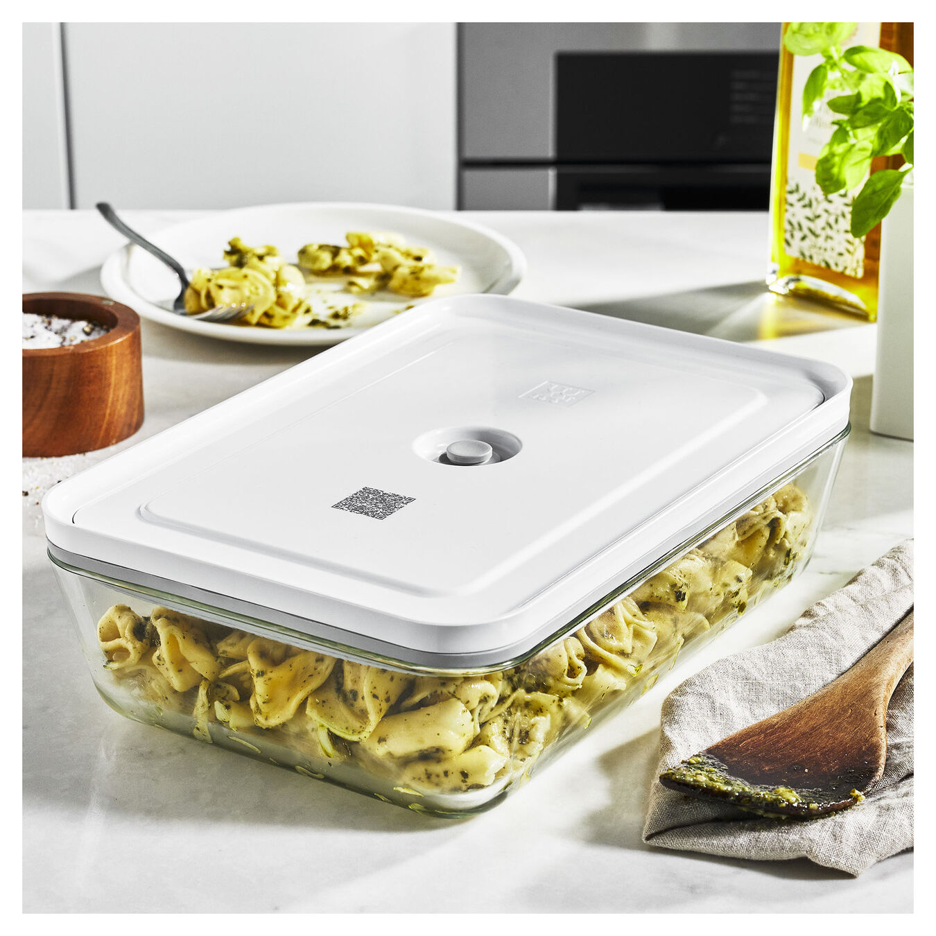 Vacuum gratin dish, White,,large 3