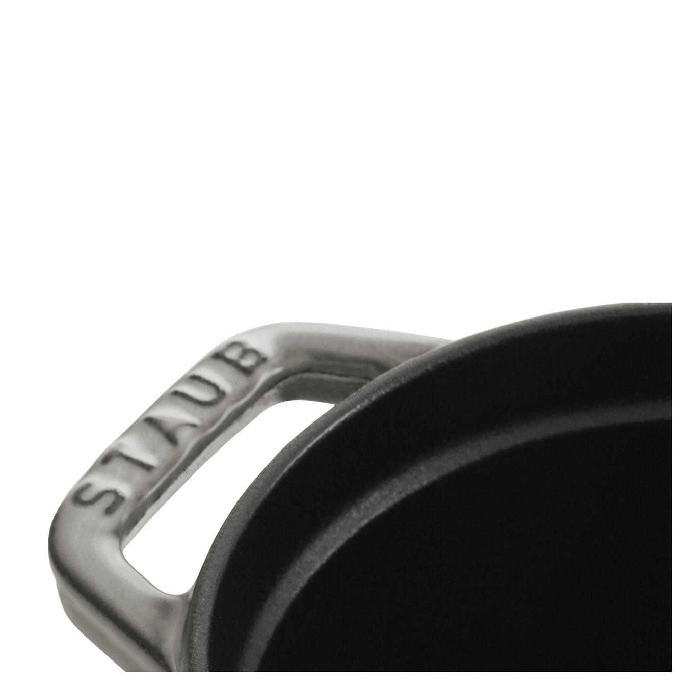 Cocotte 17 cm, Ovale, Gris graphite, Fonte,,large 4